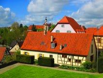 Casas en mún Wimpfen, Alemania foto de archivo