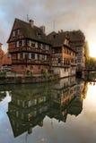 Casas en Menudo-Francia, Estrasburgo, Francia Foto de archivo