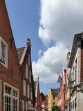 Casas en mirada de soslayo, Alemania imagen de archivo