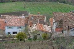 Casas en Motovun Imágenes de archivo libres de regalías