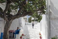 Casas en Mykonos Fotos de archivo