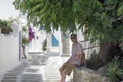 Casas en Mykonos Imagenes de archivo