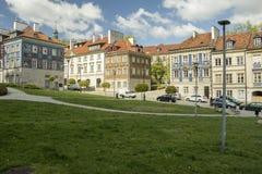 Casas en Nowe Miasto, Varsovia Fotografía de archivo libre de regalías