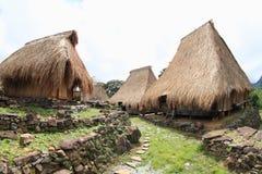 Casas en pueblo tradicional en museo al aire libre en Wologai Fotografía de archivo