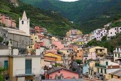 Casas en Riomaggiore Fotos de archivo