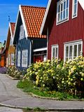 Casas en sin procesar Fotografía de archivo libre de regalías