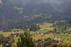 Casas en Suiza Imagen de archivo libre de regalías