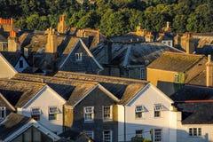 Casas en Totnes, Inglaterra, Reino Unido Imágenes de archivo libres de regalías