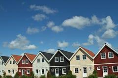 Casas en un pueblo en Dinamarca Fotografía de archivo libre de regalías
