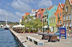 Casas en Willemstad, Curaçao Foto de archivo