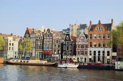 Casas engraçadas de Amsterdão Imagem de Stock