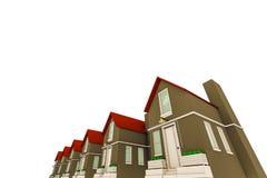 Casas esboçadas Imagens de Stock