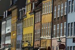Casas escandinavas Fotos de Stock Royalty Free
