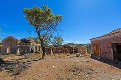 Casas escudadas Fotos de archivo libres de regalías