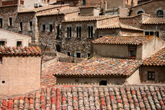 Casas españolas apretadas Imagenes de archivo