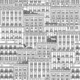 Casas espanholas ilustração royalty free
