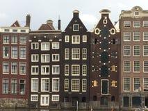 Casas especiais de Amsterd?o fotografia de stock