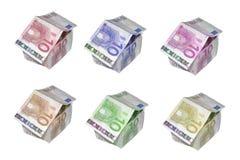 Casas euro Fotos de archivo libres de regalías