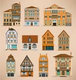 Casas europeas ilustración del vector