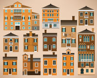 Casas europeas (Italia) ilustración del vector