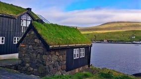 Casas feroesas típicas Fotos de archivo