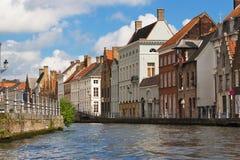 Casas flamengas em Bruges imagens de stock royalty free