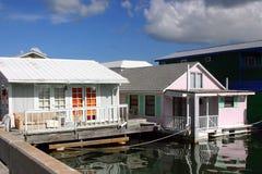 Casas flotantes Imagen de archivo libre de regalías