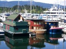 Casas flotantes Imagen de archivo
