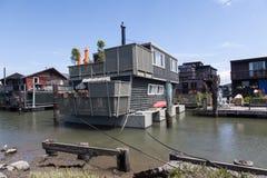 Casas flotantes Fotografía de archivo