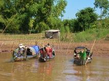 Casas flotantes de la savia de Tonle Foto de archivo