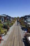 Casas flotantes de Sausalito Imagenes de archivo