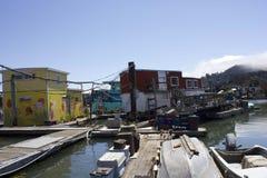 Casas flotantes de Sausalito Fotografía de archivo