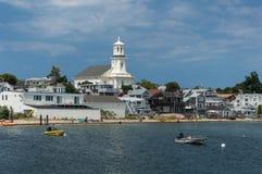 Casas frente al mar en Provincetown, bacalao de cabo fotografía de archivo libre de regalías