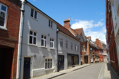 Casas Georgian, Winchester, Hampshire Foto de Stock