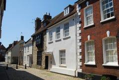 Casas georgianas, Poole, Dorset Imagen de archivo