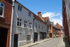 Casas georgianas, Winchester, Hampshire Foto de archivo