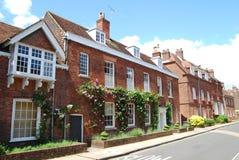 Casas georgianas, Winchester, Hampshire Foto de archivo libre de regalías