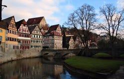 Casas Half-timbered Imagen de archivo libre de regalías