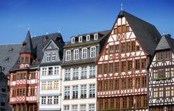 Casas Half-timbered em Francoforte Fotografia de Stock Royalty Free
