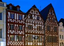 Casas Half-timbered en Europa Foto de archivo