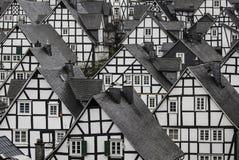 Casas Half-Timbered tradicionais foto de stock royalty free