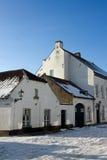 Casas históricas brancas velhas Fotografia de Stock