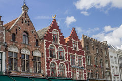Casas históricas Brujas Bélgica Foto de archivo