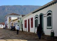 Casas históricas da cidade Imagem de Stock