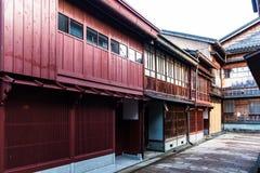 Casas históricas da gueixa de Kanazawa, Japão imagens de stock royalty free