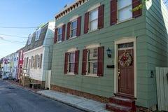 Casas históricas de Annapolis Maryland Fotografía de archivo