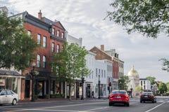 Casas históricas de Georgetown Imagenes de archivo