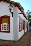 Casas históricas de la ciudad Imagen de archivo libre de regalías