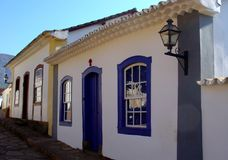 Casas históricas de la ciudad Fotos de archivo libres de regalías