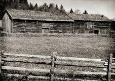 Casas históricas de la granja de Sverresborg Imagen de archivo libre de regalías